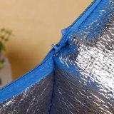 Encargo colorida promocional aislado no tejido del refrigerador del almuerzo bolsa