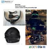 スマートなヘルメットライト無線再充電可能な回転ブレーキがかかるライト