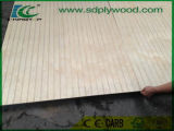 U, V, sulco do estilo de T e madeira compensada do entalhe/MDF liso para o revestimento da parede