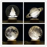 Chiristmasのギフトの装飾の習慣3D LED夜ライト