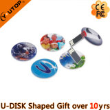 Round Pop-up Card USB Pen Drive como presentes de natal (YT-3108)
