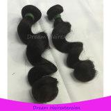 完全なクチクラの人間の毛髪の織り方の緩い波のカンボジア人の毛