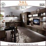 現代デザインホーム家具の暗い色の木の台所家具