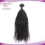 100% соткать волос Kinky курчавой девственницы человеческих волос бразильских