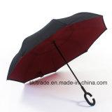 Зонтик отвесных цветов портативный Handsfree прямой обратный перевернутый