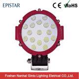51W Negro/Rojo/Amarillo de la caja de aluminio Offroad luz LED de trabajo