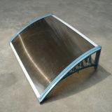 Dossel do abrigo de Sun do policarbonato com frame do plástico da engenharia