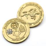 Pièce de monnaie en alliage de zinc promotionnelle de ramassage de double d'or