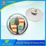 Оптовая торговля сувенирной пользовательские цвета Pantone кнопка печати логотип с 3м, с которыми сталкиваются с двойной клейкой ленты (XF-BG31)