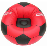 Canapé de football gonflable confortable en PVC rouge pour promotion