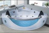 STAZIONE TERMALE d'angolo della vasca da bagno di massaggio di 1600mm con il grande vetro della fonte tipografica per 2 la persona (AT-9810)