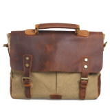 Из кожи и Cowhide Canvas Messenger Bag плеча сумочку (RS-6807F)