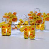 Forma de girafa operada a meio ambiente Luz de fadas decorativa piscante LED para sala de bebê