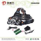 LED Headlamp 3 LED 3 크리 사람 Xml T6 LED Headlamp