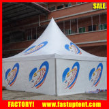 Tente blanche de Gazebo de Pavillion de pagoda à vendre avec l'impression de logo