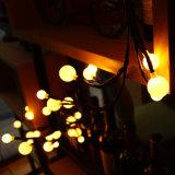 luz euro de la cadena de la bola LED del hogar de la boda del enchufe de la UL BS de 110V 220V 240V