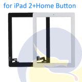 ボタンの白い黒のないiPad 2 iPad2 A1395 A1396 A1397の接触パネルガラスのための元のタッチ画面の計数化装置は3mの接着剤を放す