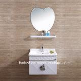 棚とのAppleの形ミラーの浴室の虚栄心