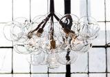 Candelabro enorme de vidro moderno da bolha para a iluminação do hotel