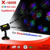 Laser Light Factory Novo Padrões de movimento RGB Full Color Star Laser Light Shower Decoração de Natal Holiday Garden Lighting