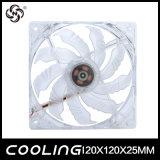 C.C. 120mm da tensão do PC ventilador 12025 5V claro azul que refrigera o Ce impermeável RoHS do ventilador da fonte de alimentação aprovado