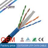 Câbles imperméables à l'eau extérieurs de gestion de réseau de câble de câble LAN de Sipu CAT6 UTP