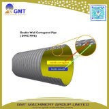 Línea acanalada de la protuberancia de la máquina del tubo de la pared doble del plástico HDPE/PVC