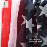 Neue Dame Viscose Scarf der Form-2017 mit der Amerika-Markierungsfahne gedruckt