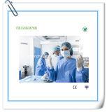 Vestido cirúrgico azul não tecido descartável de SMS
