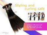 3 rollt ein Satz brasilianisches Remy Haar-gerades Glücks-Haar zusammen