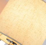 読書のためのファブリック陰が付いている現代ホテルの枕元のGooseneck LEDのSconceの壁ランプライト
