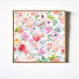 Peinture à l'huile de toile de fleurs roses