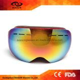 Meilleur neuf vendant les lunettes faites sur commande sphériques de neige de ski d'anti de regain de miroir d'enduit lentille de PC