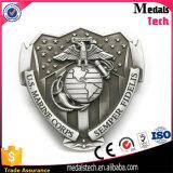 米国海軍軍隊項目フラグ3Dのワシのマットの銀製合金のベルトの留め金