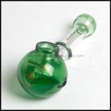 Verde agujereado multi de cristal de cristal del tubo de la mano de la cuchara de Hfy Illadelph