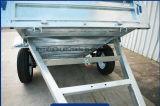 Reboque de eixo único utilitário galvanizado com compartimento de 900 mm