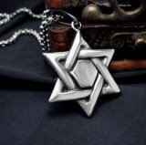 Hexagram Personality Stainless Steel Necklace Pendant Accessoires de mode