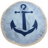 安いポリエステル円形のビーチタオル(甘い印刷デザイン)