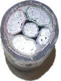 0.6/1kv câble d'alimentation en aluminium isolé et blindé de XLPE