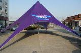 Barraca feita sob encomenda impressa alta qualidade da estrela de Red Bull do logotipo da barraca Shaped da estrela para o indicador