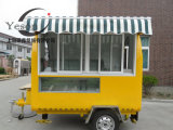 كبيرة مخزون يد دفع طعام عربة لأنّ عمليّة بيع و [فست فوود] البيع عربة مجموعة