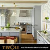 機能台所島デザイン光沢のある白い絵画食器棚(AP083)