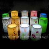 暖かく白い照明装飾のためのFlameless電池式の安全使用LEDの輝いた蝋燭