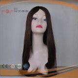 Belo design topo de pele mais clara de seda de franja parte intermediária superior mulheres peruca