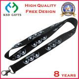 Fábrica OEM Custom Silk Screen impreso cordón con gancho de metal