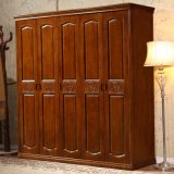 Шкаф спальни домашней мебели твердый деревянный (GSP9-015)