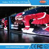 Fase di colore completo P4.81 che fa pubblicità alla visualizzazione esterna dell'affitto LED