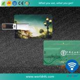 Impressão personalizada ABS Flash Drive Cartão de visita USB para presentes