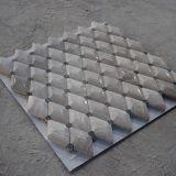 Плитка мозаики Polished красивейшего Wood-Grain косоугольника белая
