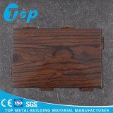 Панель деревянного взгляда алюминиевая одиночная для материала украшения плакирования стены